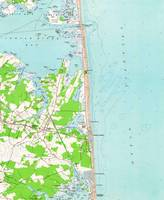 Vintage Map of Bethany Beach Delaware (1954)