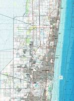 Fort Lauderdale Florida Map (1985)