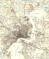 Vintage Map of Jacksonville Florida (1918)