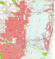 Vintage Map of Miami Florida (1950) 2