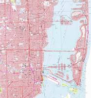 Vintage Map of Miami Florida (1962)