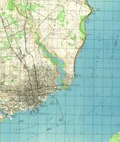 Vintage Map of Pensacola Florida (1944)