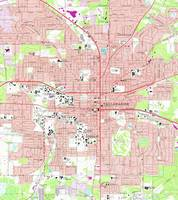 Tallahassee Florida Map (1970)