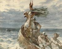 Vintage Raiding Vikings Painting (1873)
