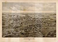 Vintage Pictorial Map of Kennebunk Maine (1895)
