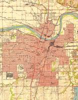 Vintage Map of Topeka Kansas (1951)