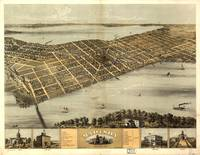 Vintage Pictorial Map of Madison Wisconsin (1867)
