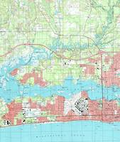 Biloxi Mississippi Map (1992)