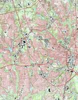 Fayetteville North Carolina Map (1997)