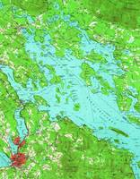 Vintage Map of Lake Winnipesaukee (1956)