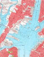 Vintage Map of Jersey City NJ (1955) 2