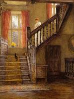 Helen Allingham - The Staircase, Whittington Court