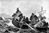 Vikings Landing in Iceland Illustration (1909)