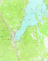 Vintage Map of Lake George New York (1966) 2