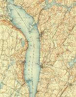 Vintage Map of Tarrytown NY & The Hudson River