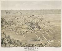 Vintage Pictorial Map of McKinney Texas (1876)