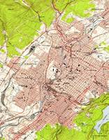 Vintage Map of Scranton Pennsylvania (1947)