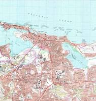 Vintage Map of San Juan Puerto Rico (1969)