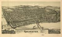 Vintage Pictorial Map of Rochester PA (1900)