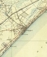 Vintage Map of Myrtle Beach South Carolina (1940)