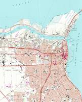 Vintage Map of Corpus Christi Texas (1968)