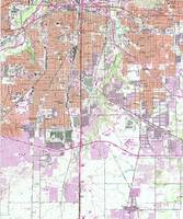 Vintage Map of Fort Worth Texas (1955) 2