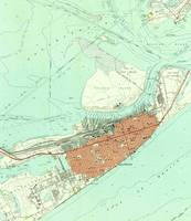 Vintage Map of Galveston Texas (1954) 3