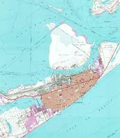 Vintage Map of Galveston Texas (1954) 2