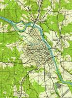Vintage Map of Fredericksburg Virginia (1944)