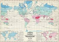 Vintage World Climate Map (1870)