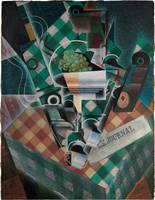 Juan Gris ,  Still Life with Checked Tablecloth