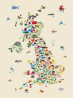Animal Map of Great Britain & NI for children and