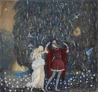 Lena dances with the knight  by John Bauer, 1915