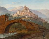 Michael Gottlob Wentzel 1792 -  1866 View from Roc