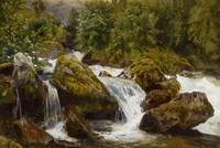MORAS, WALTER Berlin 1876 - 1910 Whitewater in the