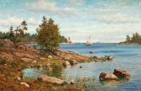 OSCAR KLEINEH, VIEW OF THE ARCHIPELAGO.