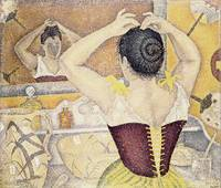 Paul Signac - A Woman at Her Toilette Wearing a Pu