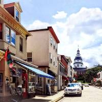Annapolis Md - Shops On Maryland Avenue And Capito Art Prints & Posters by Susan Savad