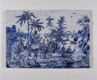 Plaque with a Chinoiserie landscape and gilt detai
