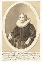 Portrait of Johanna van Berckel in oval, Cornelis