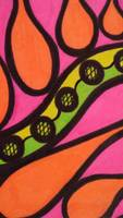 Aceo Abstract Fluorescent Marker Drawing