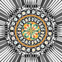 High contrast mandala