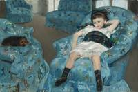 Little Girl in a Blue Armchair by Mary Cassatt