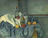 The Peppermint Bottle by Paul Cézanne