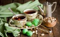 Tea, Cookies And Pistachio Nuts