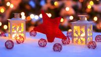 Merry Christmas Star and Lanterns