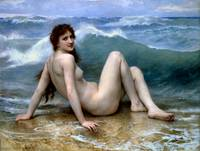 William-Adolphe Bouguereau (1825-1905) - The Wave