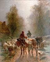 Troyon, Constant - On the Way to the Market 1810-6