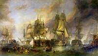 The Battle Of Trafalgar by William Clarkson Stanfi