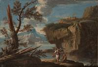 SALVATOR ROSA CIRCLE OF, A BIBLICAL SCENE.